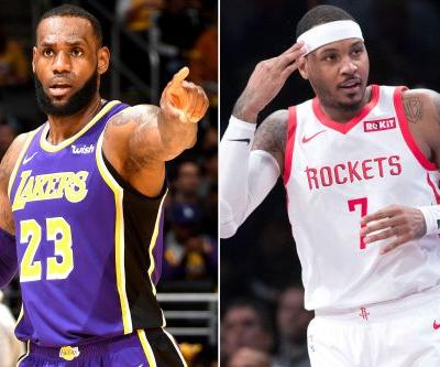 LeBron James hoping Lakers will go after Carmelo Anthony