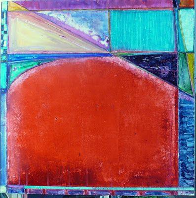"""Contemporary Geometric Abstract Painting """"Rodeo Drive"""" by Contemporary New Orleans Artist Lou Jordan"""