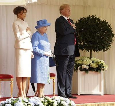 Melania Trump's Outfit To Meet Queen Elizabeth Was A Very Neutral Look, With A Twist