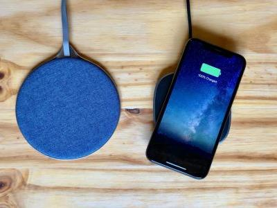 Review: Aukey's stylish blue fabric adorned 10W Wireless Fast Charger & Graphite Wireless Charger