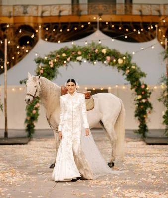 Chanel Imagines Its Couture Show as a Bucolic Bridal Procession