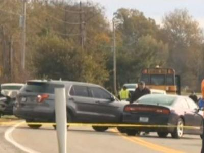 4 children hit, 3 killed by truck at bus stop, state police say