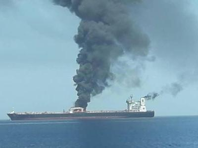Oil is surging after a suspected torpedo attack on 2 tankers in the Gulf of Oman