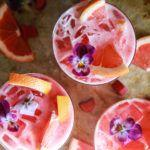 Grapefruit Rhubarb Gin and Tonics