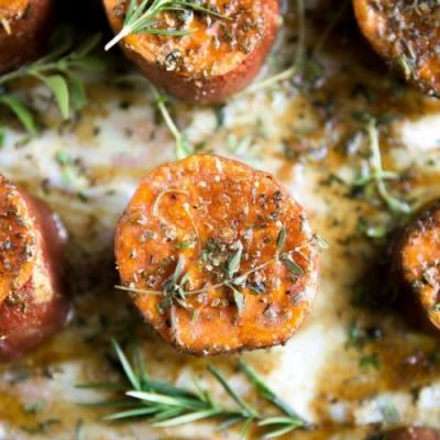 Butter Roasted Sweet Potatoes