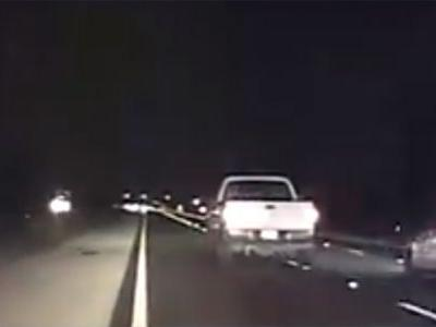Video: Pickup truck driver leads police on chase, 'drinking beer as he stopped'