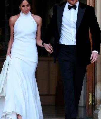 Meghan's Second Wedding Dress Is About As Hollywood As It Gets