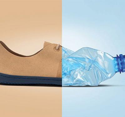 An eco-friendly footwear startup is turning plastic bottles into beautiful sneakers - each pair diverts 17 plastic bottles from landfills and rolls up to the size of a pair of socks