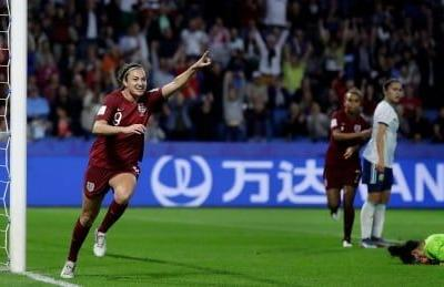 Taylor puts England in World Cup round of 16 with game to spare