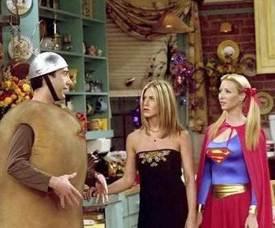 'Friends' Halloween Episode Quotes For Captions & Group Costume Pics