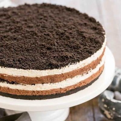 Triple Layer Chocolate Cream Torte