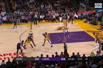 HIGHLIGHTS: Pau Gasol with the Exclamation Mark | San Antonio Spurs at LA Lakers