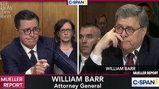 Stephen Colbert Hilariously Crashes Barr Testimony To Ask His Own Burning Questions