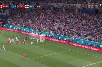 Harry Kane scores a late header to give England the win over Tunisia