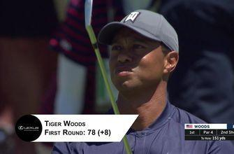 Holly Sonders recaps Dustin Johnson and Tiger Woods' first round at the U.S. Open