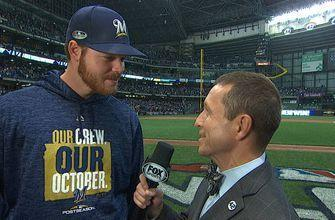 Brandon Woodruff talks with Ken Rosenthal about his 3rd inning home run off Clayton Kershaw