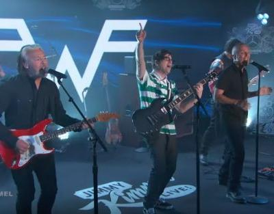 "Watch Weezer Cover ""Everybody Wants to Rule The World"" With Tears For Fears On Kimmel"