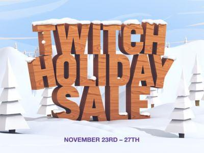 Twitch Holiday Sale! Get discounts on games, merch, and Bits