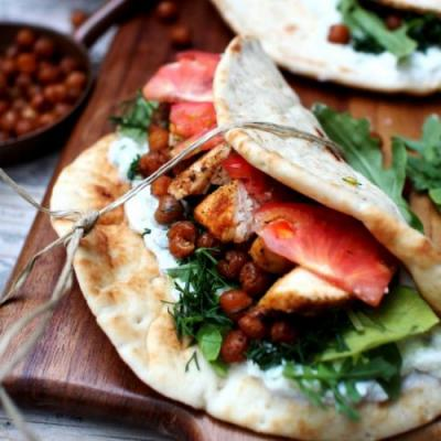 Chicken & Chickpea Flatbreads