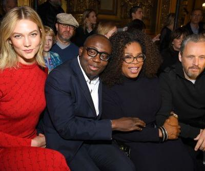 Oprah supports Stella McCartney at Paris Fashion Week for a charitable cause