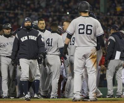 Yankees-Red Sox brawl for real after Tyler Austin gets plunked
