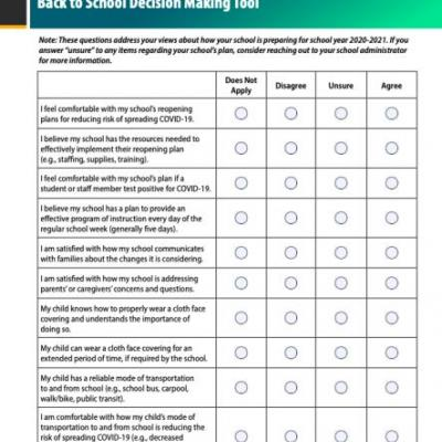 The CDC Released A Back-To-School Decision Making Tool