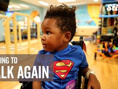 4-year-old paralyzed by rare condition becomes inspiration as he works to walk again