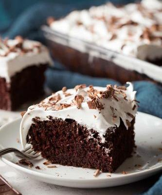 Chocolate Cake with Marshmallow Frosting