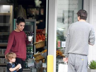 Ashton Kutcher and Mila Kunis Take the Kids Along for a Coffee Run - See the Rare Pics!