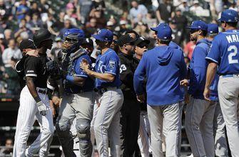 Royals hit Anderson after ChiSox SS flips bat; benches clear