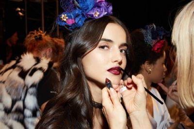 Touch ups using Maybelline Loaded Bolds Lipstick at La Perla's