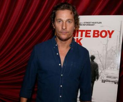 Matthew McConaughey keeps his cool during rainy premiere