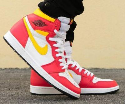 """On-Foot Look at the Air Jordan 1 """"Light Fusion Red"""""""