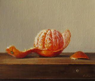Still Life with Peeled Clementine