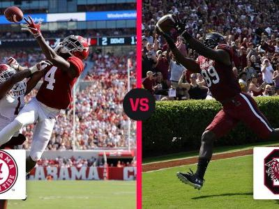 What channel is Alabama vs. South Carolina on today? Time, TV schedule for the Week 3 matchup
