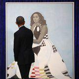 Barack Obama Can't Help but Do a Double-Take at Michelle's Stunning Official Portrait