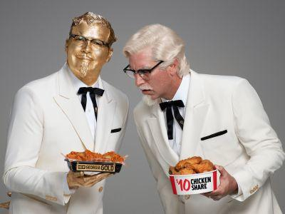 KFC is doing something unprecedented with Colonel Sanders at this year's Super Bowl
