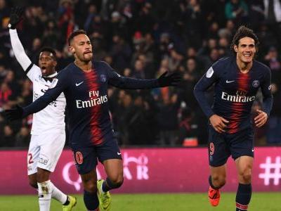 Neymar, Kylian Mbappe and Edinson all 8/10 as PSG hit nine vs. Guingamp