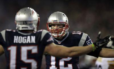 Hogan's big receiving day helps lead Patriots to Super Bowl
