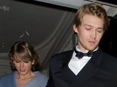 Taylor Swift and Her BF Joe Alwyn Looked Totally 'Loved Up' at CAA Pre-Oscars Party