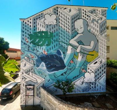 """""""Beyond the Sea"""" by Millo in Monopoli, Italy"""