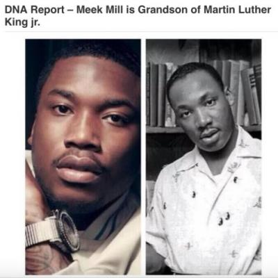 DNA Test Proving Rapper Meek Mill Is Grandson of Martin Luther King Jr. Is A Hoax