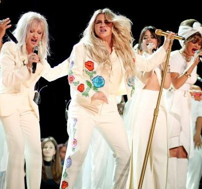 Why people are furious at Kesha's record label for congratulating her on a powerful Grammy performance