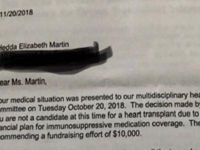 Hospital Tells Woman To Use 'GoFundMe' For Her Own Heart Transplant - Yes, Really