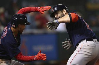 Moreland's slam, Red Sox beat A's 7-3 for 8th straight win