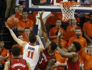 Jerome helps rally No. 2 Virginia past Louisville 73-68