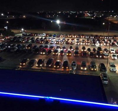 WATCH: Community members use headlights to show support for Oklahoma medical workers