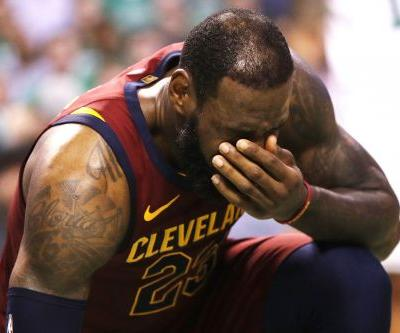 LeBron's 42-point night not enough as Cavs fall into 0-2 hole