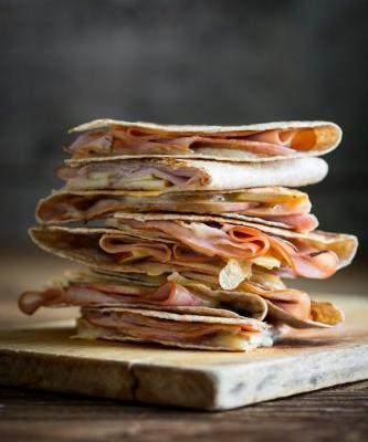 Apple ham and cheddar quesadillas