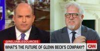 Is Glenn Beck's network collapsing? He walked out of a CNN interview when asked